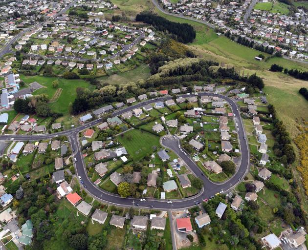 The gain in Dunedin house values is almost double the national figure; pictured, Columba Ave, Corstorphine. Photo: Stephen Jaquiery