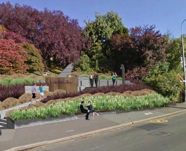An impression of what the proposed conscientious objectors' memorial in Dunedin might look like....