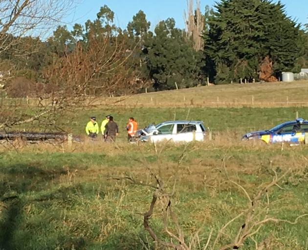 Two people were injured in a crash on State Highway 1 near Herbert, North Otago, this morning....