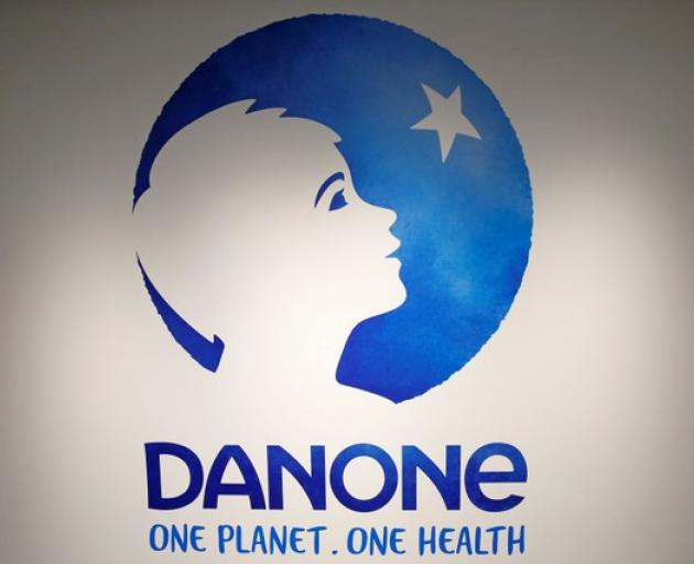 The logo of French food group Danone Photo: Reuters