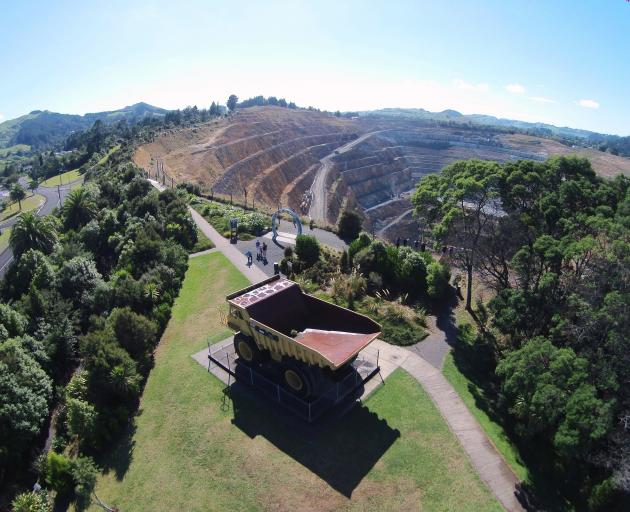 Oceana Gold's Martha pit at Waihi. Photo: Supplied