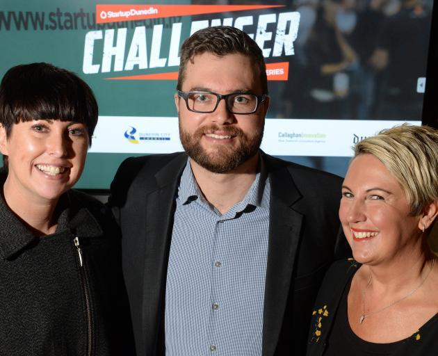 Challenger winners (from left) Paper Not Foil founder Amanda Buckingham, Elixir founder Jack...