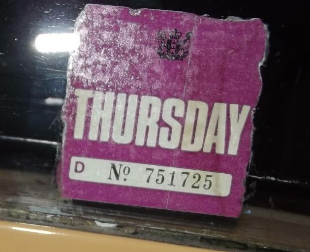 Remember these stickers? They came in different colours for each day of the week. Photo: John Noble