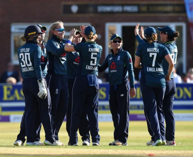 England has claimed a series win over the White Ferns. Photo: Getty Images