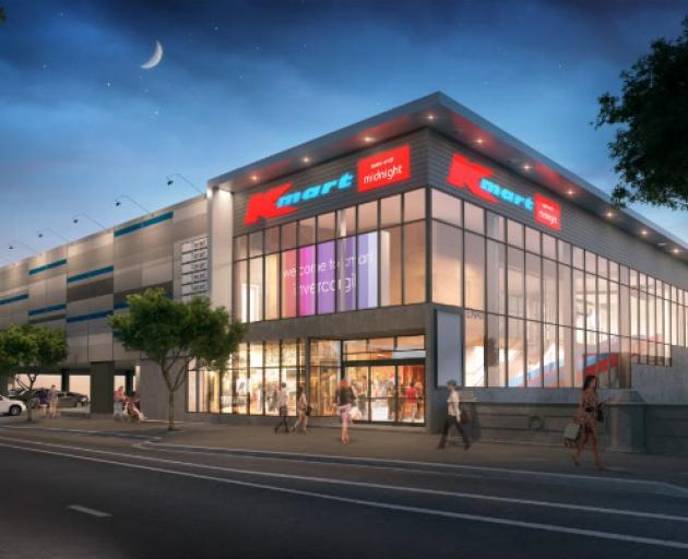 Artist's impression of the new Kmart store set to open in Invercargill next year. Image: Supplied
