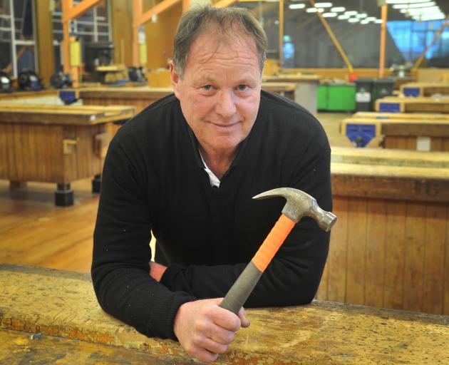 Carpentry senior lecturer Kevin Dunbar at Otago Polytechnic yesterday. Photo: Christine O'Connor