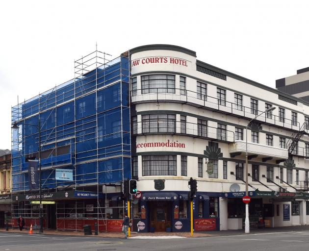 The new black Art Deco frontage of the Law Courts Hotel in Dunedin has upset reader Ivan...