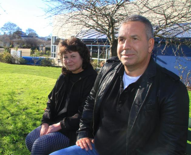 Hana Fisherova and Evgeny Yurev are looking for land where a crowdfunded eco-friendly natural therapy and arts, education and agriculture centre could be established. Photo: Hamish MacLean