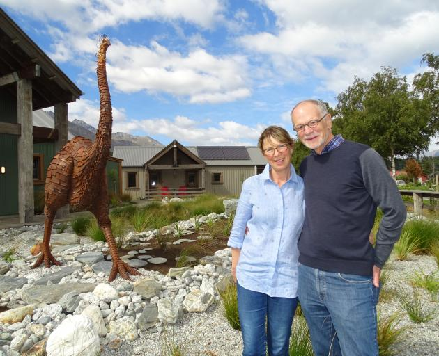 Camp Glenorchy founders Paul and Debbi Brainerd yesterday officially opened the camping ground - the most sustainable in the southern hemisphere - after four years of work. Photo: Tracey Roxburgh