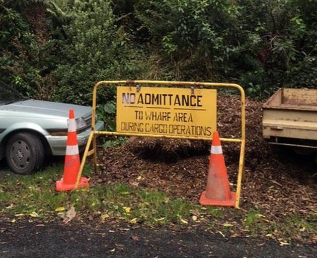 A fish out of water? Or is someone expecting a rather high tide? Seen on Braeview Cres, Maori Hill, at the weekend. Photo: Supplied