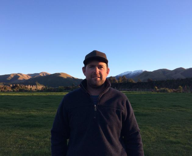 As a result of making successful changes to his business, Rupert Red Deer, in Peel Forest, Joshua Brook has won a Rabobank Farm Management Project Award. Photo: Supplied
