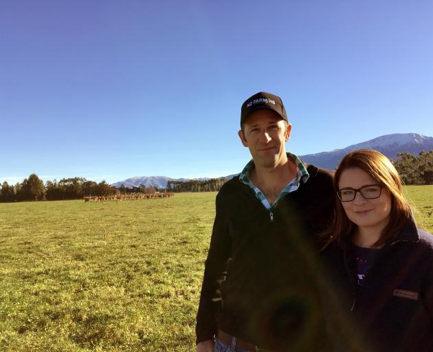 Mt Somers deer farmers Duncan and Lorna Humm farm English red deer. They have 180 mixed-aged hinds, 20 stags and 165 weaners on their property. Photo: Toni Williams