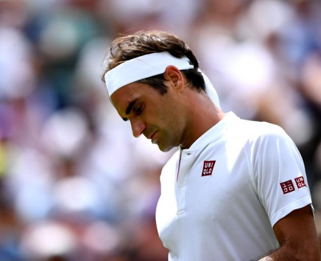 Roger Federer was beaten in a sensational collapse at Wimbledon. Photo: Getty Images