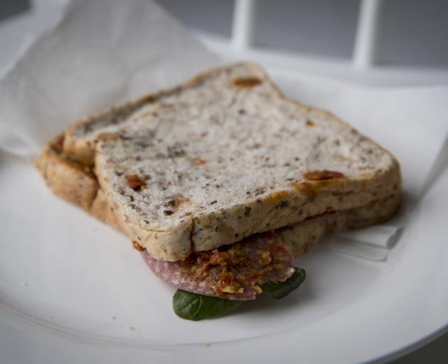 Greg Bruce's typical sandwich.