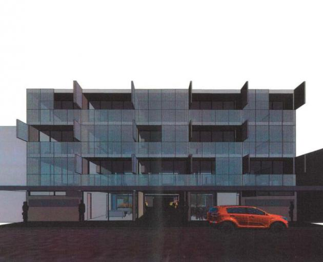 An architect's drawing of the proposed 27-room hotel in Filleul St, which has been approved by...