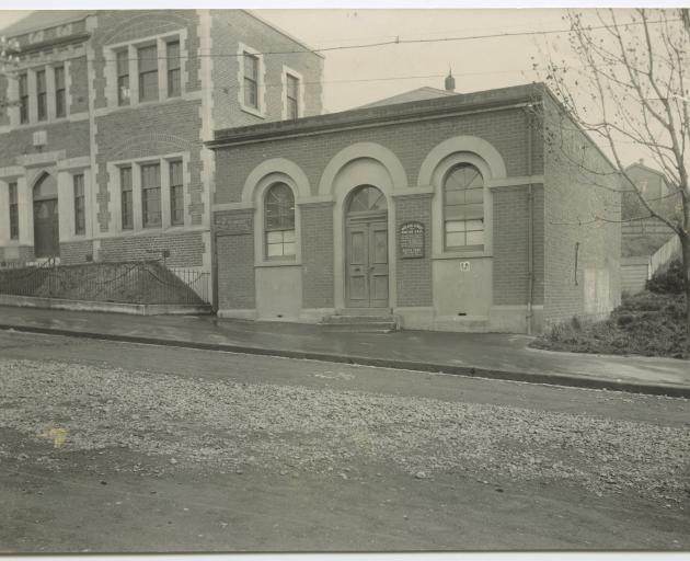 The Walker Street Mission where the first free kindergarten in Dunedin was established. Walker St...