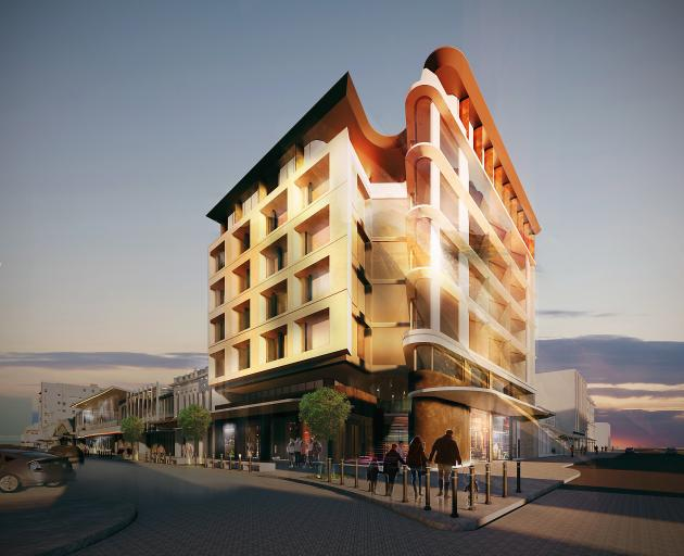 An artist's impression of the Richardson Group's planned new office building on the corner of Esk...