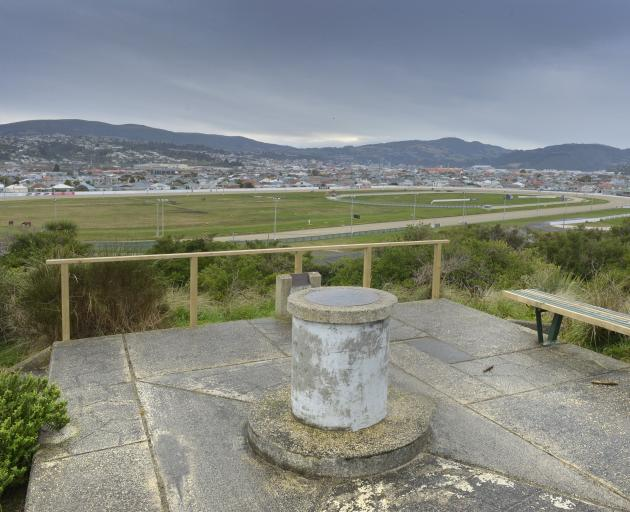 The Sir James Barnes Lookout beside Forbury Park Raceway. Photo: Gerard O'Brien