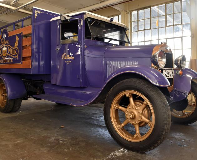 A vintage 1928 Ford Model A truck which has been given by Cadbury to the Bill Richardson Transport World museum in Invercargill. Photo: Peter McIntosh