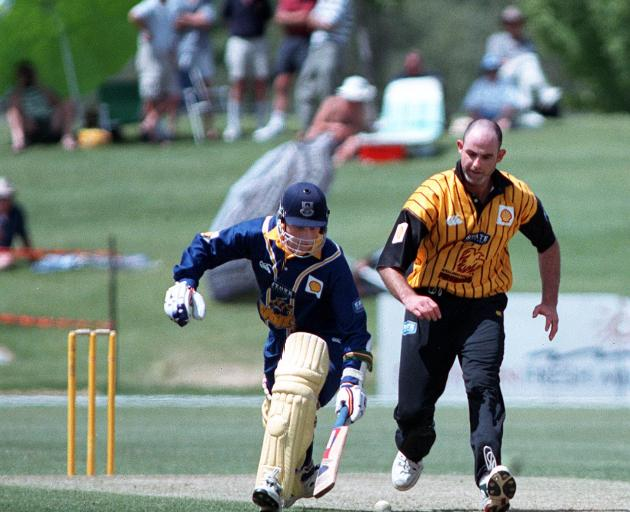 Croy the batsman scrambles to make his ground in a one-day game at Molyneux Park in Alexandra....