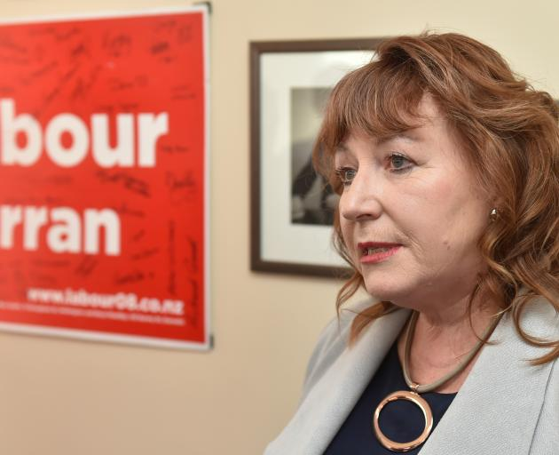 Dunedin South MP Clare Curran talks to media in her electorate office following her sacking from...
