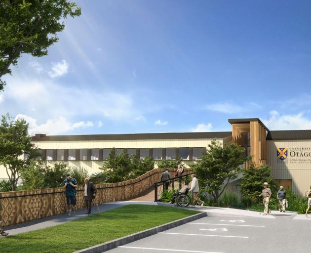 An artist's impression of a new University of Otago dental facility in South Auckland.