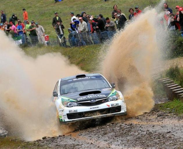 Geraldine's Hayden Paddon, pictured here on his way to winning the Rally of Portugal's PWRC...
