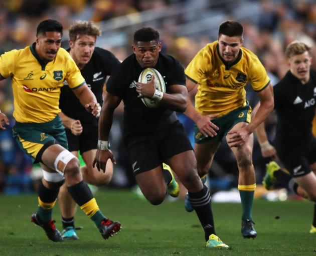 Waisake Naholo had a typically blockbusting game, scoring twice on his return to the side. Photo:...