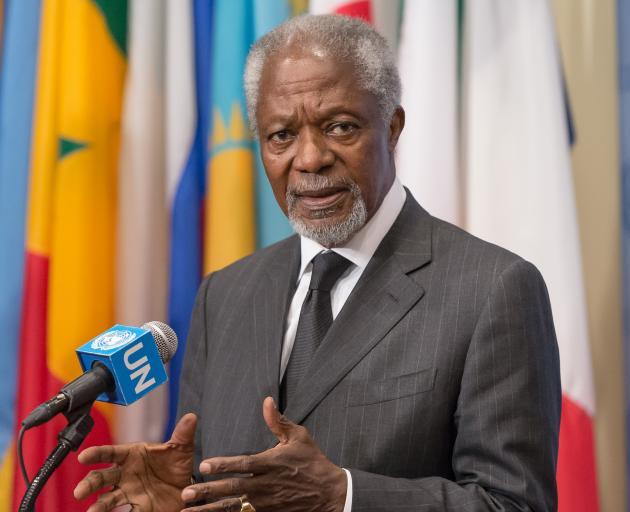 Former UN Secretary General Kofi Annan, speaking at the UN Headquarters in 2013. Photo: Getty Images