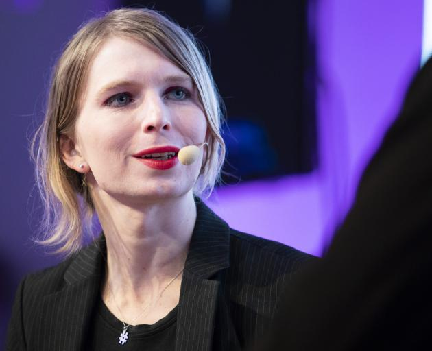 Chelsea Manning speaking at Wired Next Fest in Milan earlier this year. photo: Getty Images