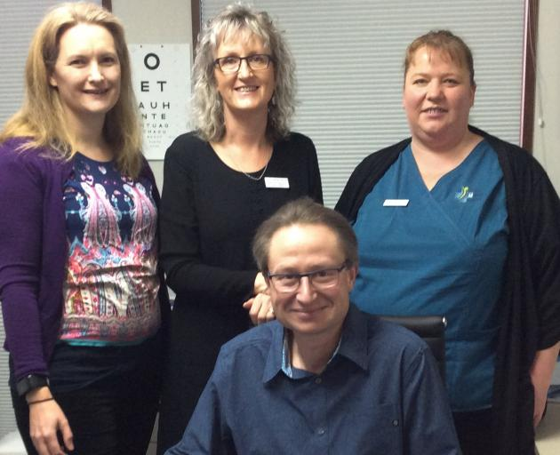 Gore Medical Centre staff, (back, from left) Dr Rebecca Stewart, Julie van Lieshout, Hannah...