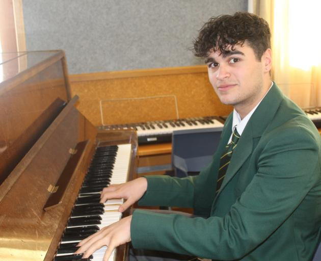 Invercargill Verdon College pupil Gabriel Lal  practises piano at school after placing in the top...