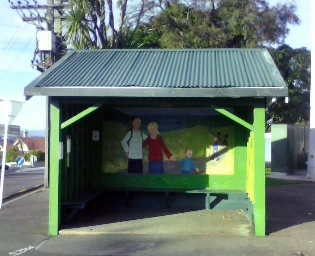 The historic wooden bus stop shelter at Maori Hill has been repaired after being crashed into, but ironically no buses serve the stop after bus routes were changed recently. Could this be the answer to the Otago Regional Council's prayers for more office