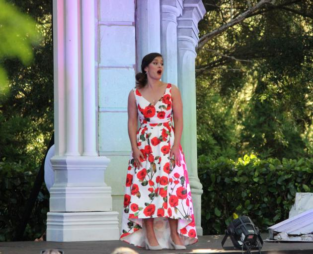 Soprano Natasha Wilson's performance in Dunedin will be her last before she heads overseas to study in San Francisco. Photo: Supplied