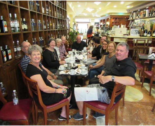 House of Travel Dunedin's, Melissa Itadani (second from right), enjoying great company and...