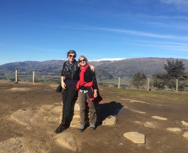 Liz Breslin (left) and her mum on Mt Iron. Photo: supplied