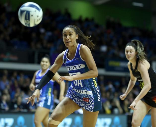 Maria Folau chases after the ball for the Northern Mystics during an ANZ Premiership game this...