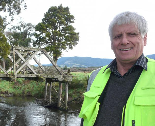 Tahakopa historian Don Sinclair wants to build a track to a local heritage bridge possibly...