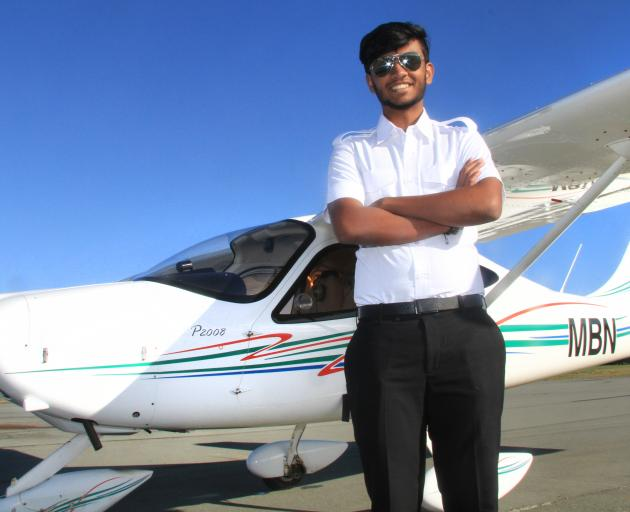 Rohit Ramesh (18), of Doha, Qatar, flew a plane for the first time this week. He is the first...