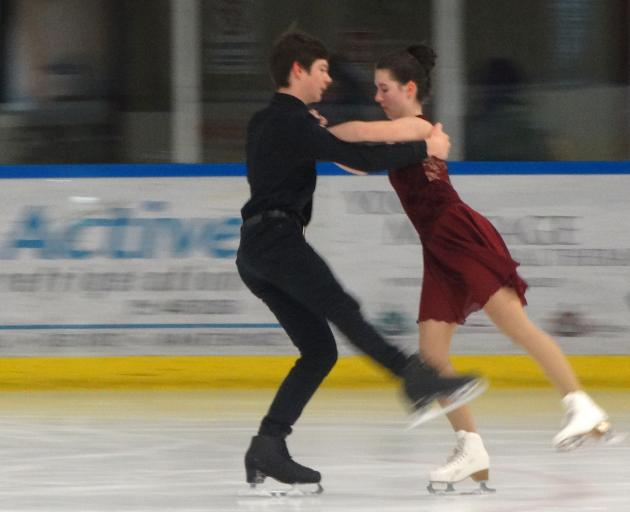 Southland ice skaters Dashane Du Plessis and Isabelle Guise (both 16) practise  ahead of the...