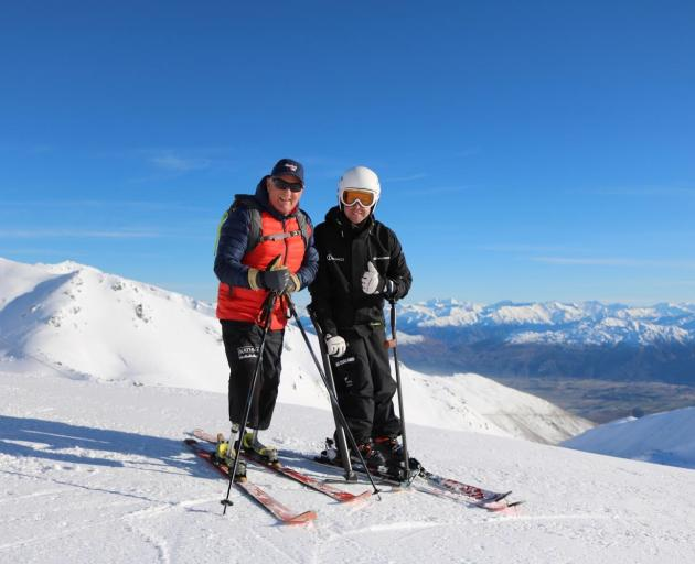Mountaineer and motivational speaker Mark Inglis (left) and double-Paralympic gold medallist Adam...