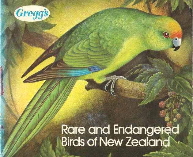 The cover of Rare and Endangered Birds of New Zealand. How many of you still have one of these...