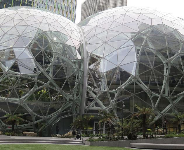 The Amazon Spheres are for staff to think outside the box.