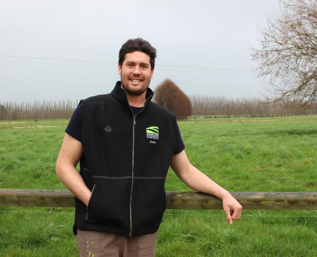 At his farm in Kaitangata, Mathew Korteweg is happy with his role as Otago dairy chairman for Federated Farmers. Photo: Ella Stokes
