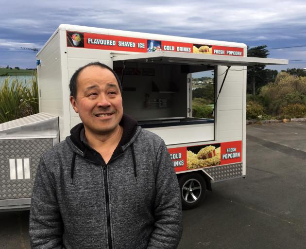 Dunedin Mobile Trading Association chairman James Chin is struggling to find a site in Dunedin to run a night market. Photo: Shawn McAvinue