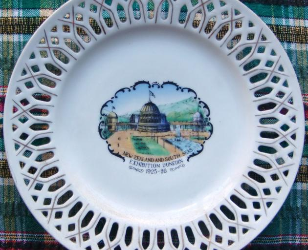 Dawn Coburn's souvenir plate from the exhibition, which she bought from a second-hand shop. Photo...