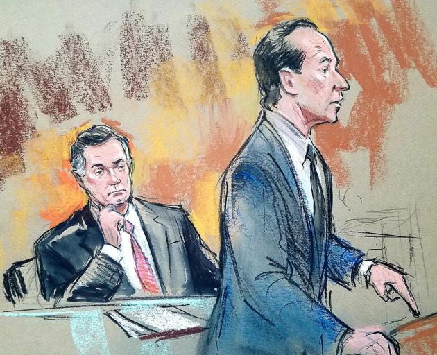 U.S. President Donald Trump's former campaign chairman Paul Manafort in Washington DC courtroom...