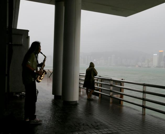 Mop up in Hong Kong after Super Typhoon Mangkhut