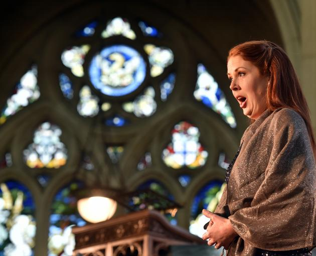 Soprano Anna Leese sings to a large audience at St Paul's Cathedral as part of the 2018 Arts...