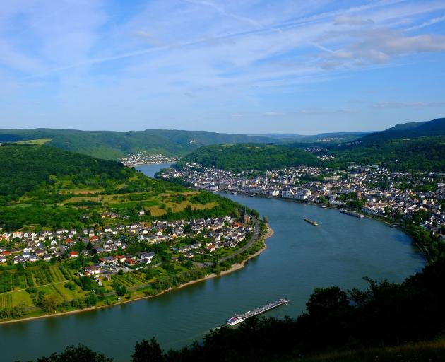 Rhine Gorge winds its way through the German countryside. Photo: Mike Yardley